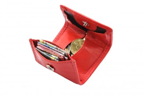 Mini Lederbörse Wiener Rot