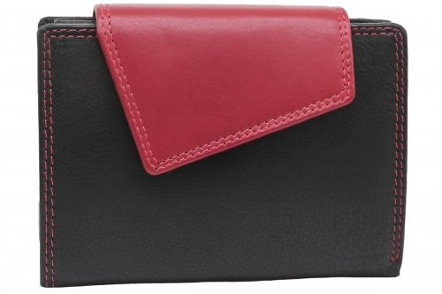 Außenriegel Damenbörse Schwarz-Rot