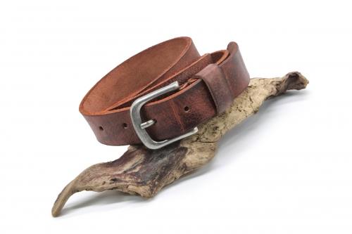 schmaler Ledergürtel Büffelleder 3cm