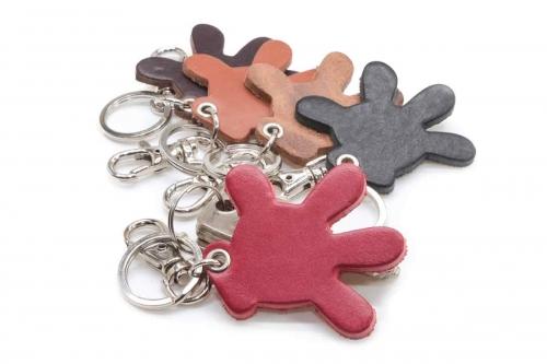 Schlüsselanhänger Leder Micky Mouse Hand