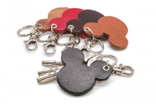 Schlüsselanhänger Leder Micky Mouse Kopf