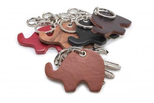 Schlüsselanhänger Leder Elefant