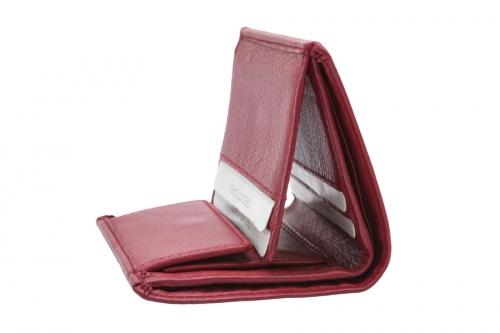 Kleine Lederbörse Quadrat Rot