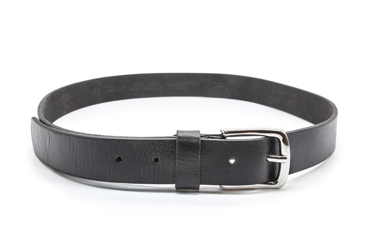 Anzuggürtel Ledergürtel 3cm schwarz