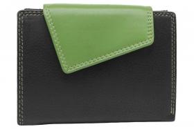 Außenriegel Damenbörse Schwarz-Grün