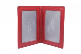 Flache Brieftasche Sichtfenster rot