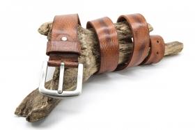 Ledergürtel Büffelleder kräftig 4cm Cognac