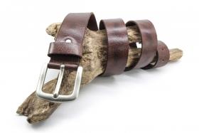 Ledergürtel Büffelleder kräftig 4cm Braun