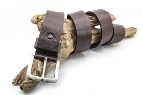 Soft Ledergürtel Büffelleder 4cm Braun