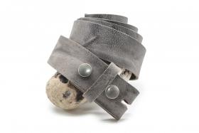 Wechselgürtel mit Druckknopf 4cm Grau
