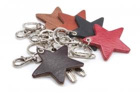 Schlüsselanhänger Leder Stern