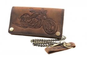 Bikerbörse Motorrad Prägung Cognac